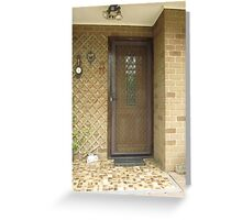 Our Front Door! 'Arilka' Mt. Pleasant Adelaide Hills Greeting Card