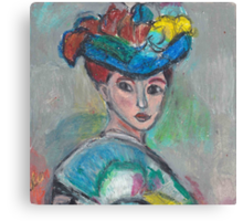 The Woman With The Hat(After Matisse) Canvas Print