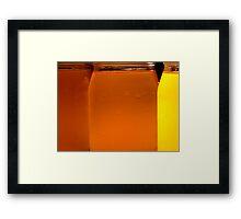 Kombucha Jars Framed Print