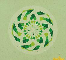 Green Geometric Mandala by goldsoul