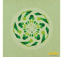 Green Geometric Mandala Photographic Print