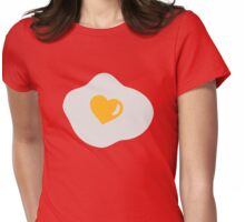 Fried egg heart Womens Fitted T-Shirt