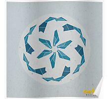 Blue Geometric Mandala Poster