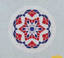 Blue/Red Geometric Mandala by goldsoul