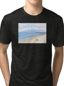 Sunday Morning on Flagler Beach Tri-blend T-Shirt