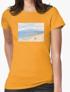 Sunday Morning on Flagler Beach Womens Fitted T-Shirt
