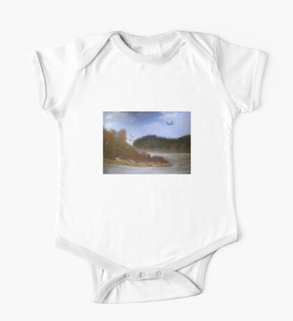 Beautiful Landscape Tranquil Countryside One Piece - Short Sleeve