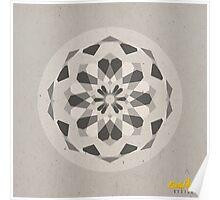 Grey Geometric Mandala Poster