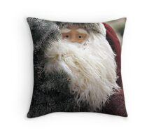 Santa Claus Christmas Card Throw Pillow