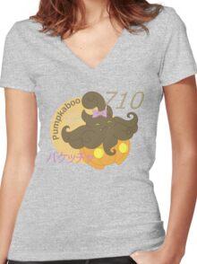 #710 - Pumpkaboo Women's Fitted V-Neck T-Shirt