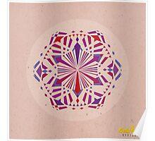 Red/Purple Geometric Mandala Poster