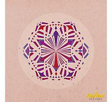 Red/Purple Geometric Mandala Photographic Print