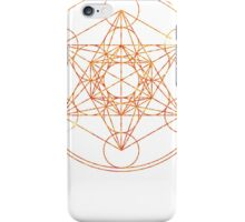 Metatron's Cube [The Red Moon] | Sacred Geometry iPhone Case/Skin