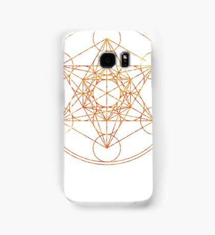Metatron's Cube [The Red Moon] | Sacred Geometry Samsung Galaxy Case/Skin