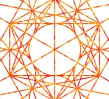Metatron's Cube [The Red Moon] | Sacred Geometry Sticker