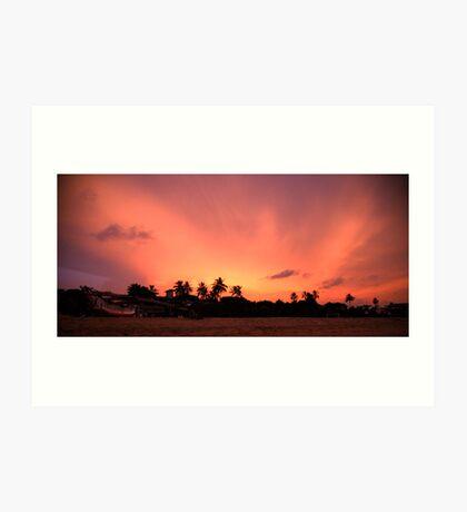 Sunset over Sri Lanka Art Print
