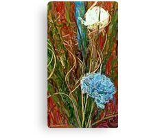 Swirls. Spike & Flowers Canvas Print
