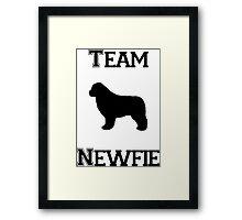 Team Newfie Framed Print