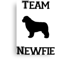 Team Newfie Canvas Print