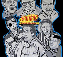 Seinfeld and his jolly mates by gjnilespop