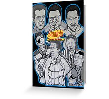 Seinfeld and his jolly mates Greeting Card
