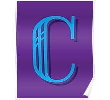 Grape Letter C Poster