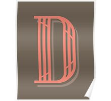 Taupe Letter D Poster