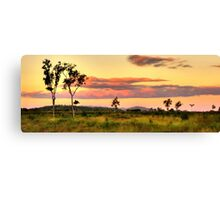 Sunset on the plain HDR Canvas Print