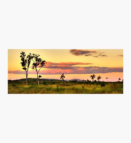 Sunset on the plain HDR Photographic Print
