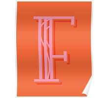 Persimmon Letter F Poster