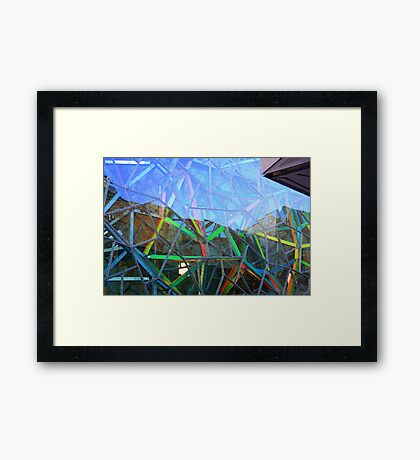 Coloured Angles! Framed Print