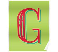 Apple Letter G Poster
