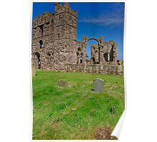 Ruins on Holy Island Poster