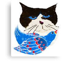 The Bird Cat Canvas Print