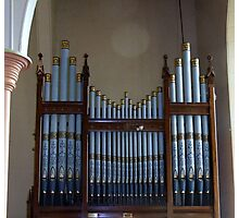 The Organ Pipes Longford Anglican Church Photographic Print