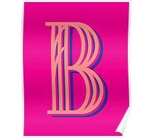 Fuschia Letter B Poster