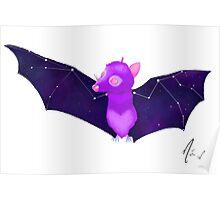 Cosmic Bat - Deep Space Poster