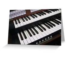Rows of Keys - Section of Organ Keyboard Greeting Card