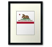 New California Republic T-Shirt Framed Print