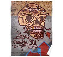 Skull Graffiti Poster
