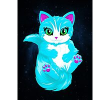 Neon Cat Photographic Print
