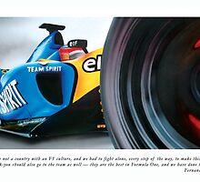 Fernando Alonso by Darren Argaet