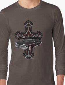 Hearse and Cross Long Sleeve T-Shirt