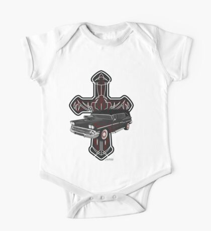 Hearse and Cross One Piece - Short Sleeve