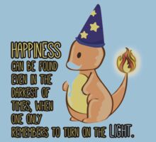 Charmander turns up the light Kids Clothes