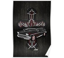 Hearse and Cross Poster