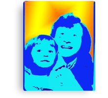 photo booth time machine Canvas Print