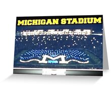 Michigan Stadium Greeting Card