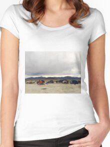 Desert car camping Women's Fitted Scoop T-Shirt
