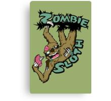 Zombie Sloth Canvas Print